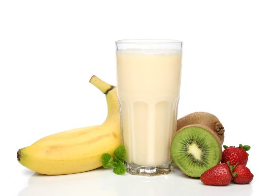 Banana Milkshake With Juice