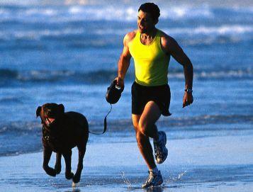 jogging on the beach 64