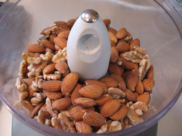 Roasted almonds and walnuts