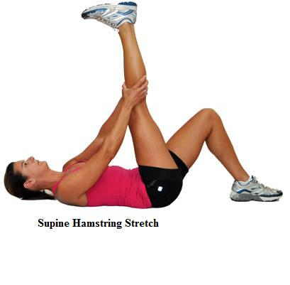 Wall Hamstring Stretch Supine Pictures to pin on Pinterest