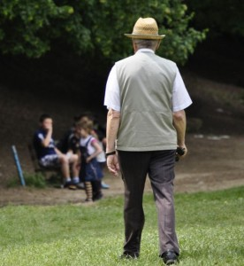 Old_man_walking_in_the_park_of_Germia,Prishtine