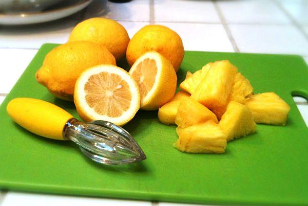 pineapple and lemon