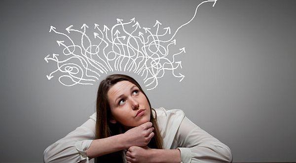 thinking lady