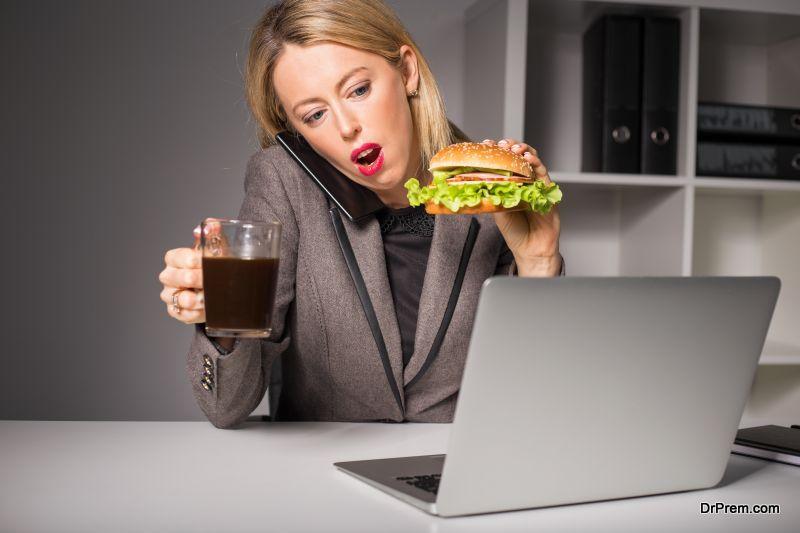 Wrong eating habit