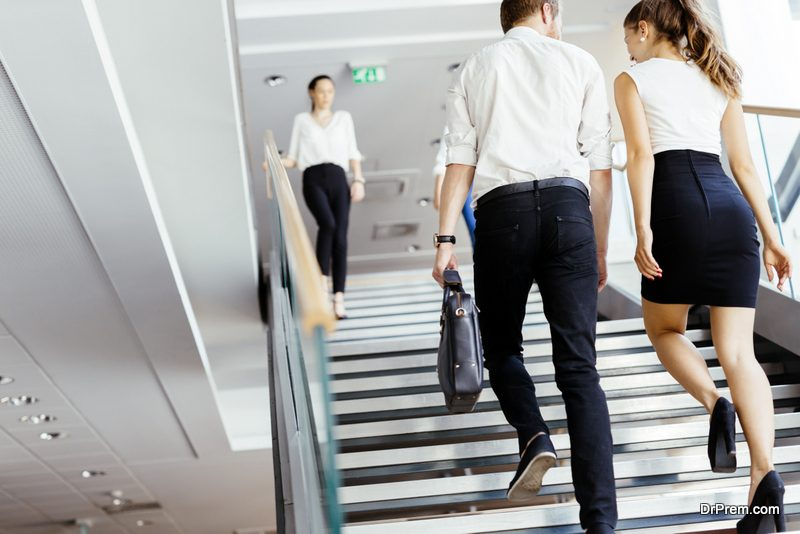 Skip the elevator and take the stairs