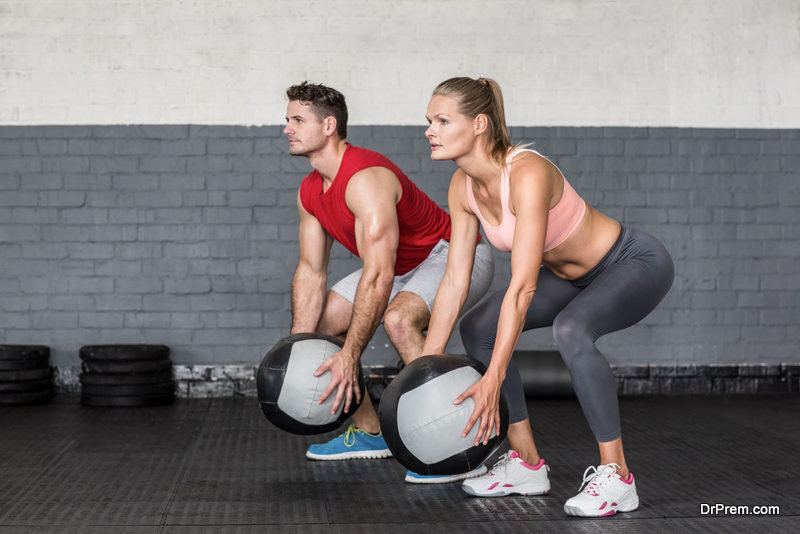 Medicine ball exercises