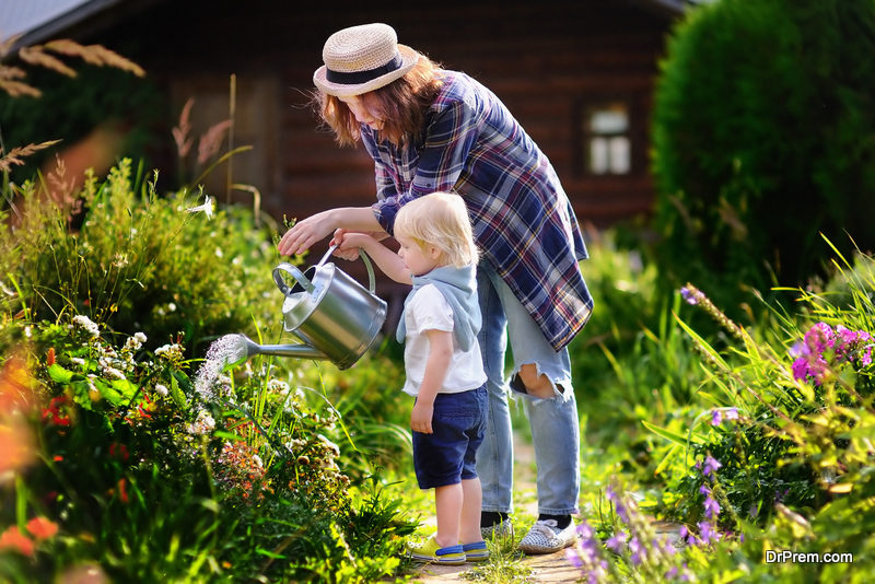 Get them involved in outdoor chores