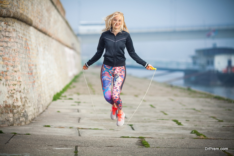 Skipping rope is an excellent way to burn calories