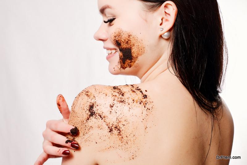 woman using hygiene product