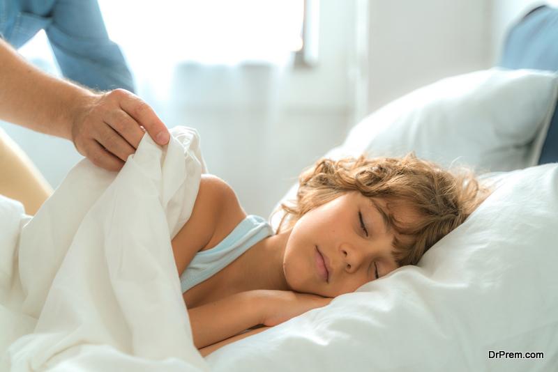 boy sleeping with calm face