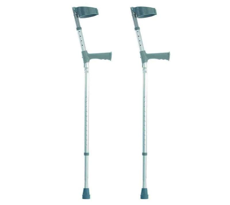 NRS Healthcare Double Adjustable Crutches Plastic Handle Long