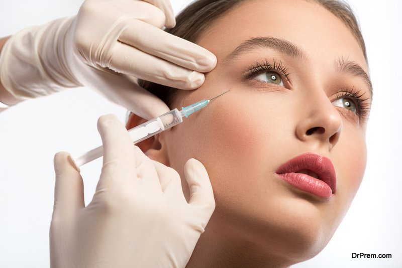 woman trying anti-wrinkle injection treatment