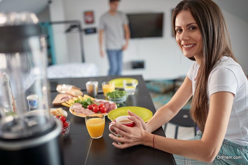 woman taking Breakfast